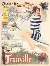 RARE Original 1900s Trouville Travel Poster HENRI GRAY