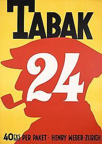 Original 1920s Swiss Tobacco Poster