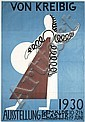 Rare Original 1930 Von Kreibig German Art Poster, Erwin