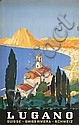 Beautiful Original 1950s Swiss Travel Poster Lugano, Daniele Buzzi, Click for value