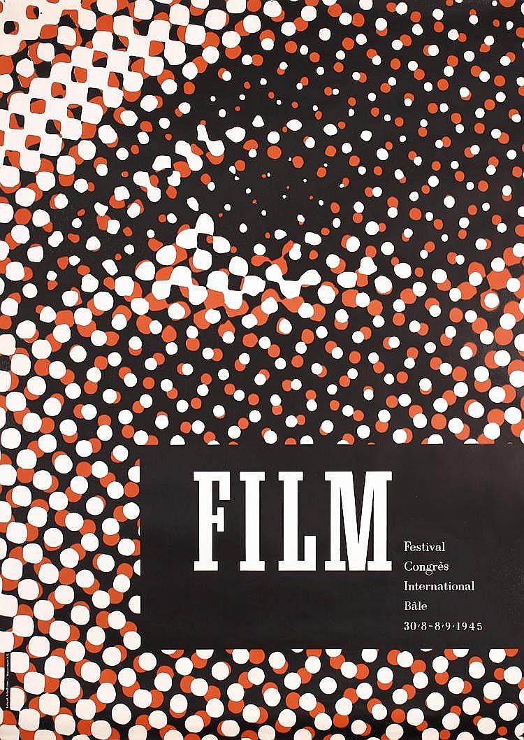 ORIGINAL 1940s Fritz Buhler Swiss Modern Design Poster