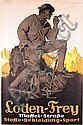 HUGE Old 1920s German Clothing Poster Mountain Climber, Edwin Henel, Click for value