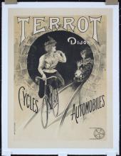 Original Vintage 1890s French Terrot Bicycle Poster