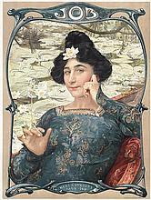 Original 1900 Art Nouveau Job Cigarette Paper Poster
