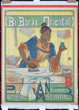 Original Vintage 1900 French Bi-Borax Orient Poster