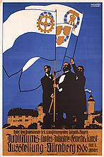 2 Old Original 1900s German Nuremberg Art Posters