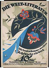 Beautiful Original 1910s German Literature Deco Poster