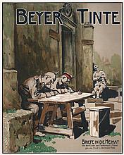 Original German World War I Military Ink Advert Poster