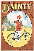 Original Vintage 1910s/20s French Bicycle Dainty Poster