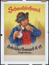 Original Vintage 1920s German Snuff Poster Schmalzlerfr