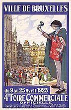 Original 1920s Belgian Expo Travel Poster