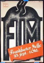 Original 1920s Frankfurt Fair Poster GRAPHICS