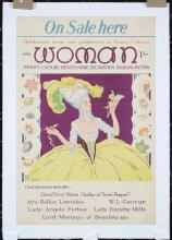 Original Vintage 1920s Art Deco Woman Magazine Poster