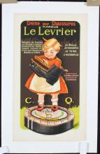 Cute Old Original 1920s French Shoe Polish Poster Girl
