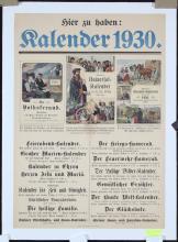 Original Vintage 1920s Calendar Advertising Poster