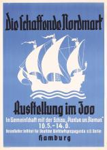 Original 1930s German Ocean Liner Travel Poster