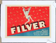 Original 1950s Small French FILVER Poster D'YLEN