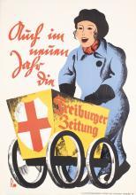 4 Original 1930s German Newspaper Posters Freiburg