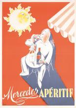 3 Old Original 1930s Aperitif Mercedes Liquor Posters