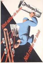 3 Original 1930s German Newspaper Posters Freiburg