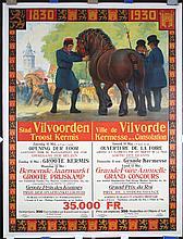 Original Vintage 1930s Belgian Agricultural Fair Poster