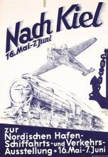 Original 1930s German Rail Aviation Transport Poster
