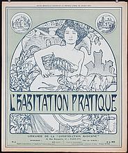 3 Original 1899 ALPHONSE MUCHA Magazine Covers Prints