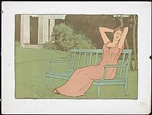 Old Original 1890s Estanmpe Moderne Print REALIER DUMAS