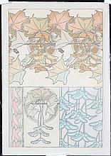 Original 1900s Alphons Mucha Documents Decoratifs Plate