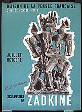 Original 1950s Mourlot Art Poster Hand-Signed ZADKINE