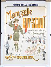 Original 1910s French Opera Poster Mamzelle Boyscout GR