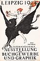 Original 1914 Leipzig Book Fair Poster Plakat TIEMANN