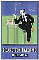Original 1890s German Cigarette Laferme Poster Plakat