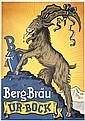 Original 1920s Bock Beer Poster Plakat