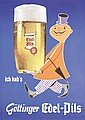 Funny Original 1960s German Beer Poster