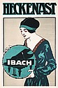 Original 1920s Piano Advertising Poster Plakat IBACH