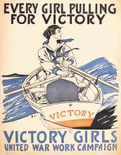 Original 1918 World War I Poster PENFIELD Victory Girls