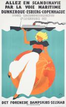 Original 1930s Scandinavian Travel Poster THELANDER
