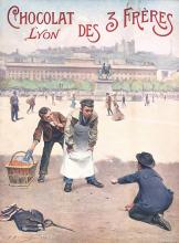 Old Original 1900s French Chocolate Poster 3 Brothers