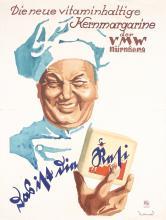 Original 1930s German Food Poster Resi Nuremberg CHEF
