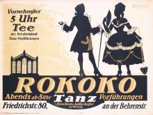 Original 1920s German Restaurant Tea Dance Bar Poster