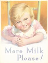 Original Vintage 1920s/30s British MILK Girl Poster