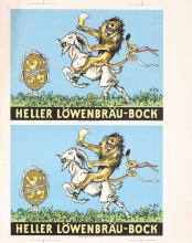 2 Original Vintage 1950s German Beer Posters