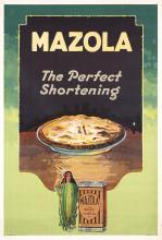 ORIG 1930s American Advertising Poster MAZOLA Shortenin
