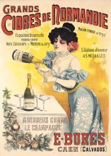 Original Vintage 1900s French Sparkling Cider Poster