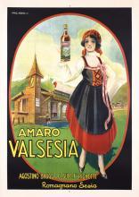 Great Original 1930s Italian Liquor Advertising Poster
