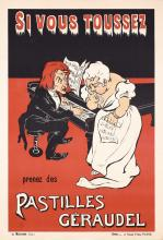 Original 1910s French Pastilles Lozenges Poster PIANO +
