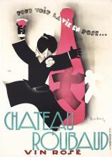Beautiful Original 1931s Art Deco French Wine Poster DU