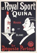 Original 1930s French Quina Liquor Poster Rouge Blanc