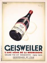 Original Vintage 1920s French Wine Poster GEISWEILER